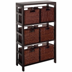 Leo 7Pc Shelf and Baskets - Winsome Trading - 92610