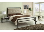 Leon Upholstered Full Bed with Attached Nightstand - 300268F