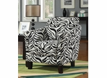 Leopard Zebra Accent Chair - 900404