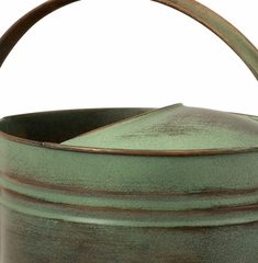 Leva Oval Verdigris Copper Watering Can - IMAX - 44086