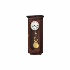 Lewis Wall Clock in Windsor Cherry - Howard Miller