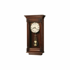 Lewisburg Wood Wall Clock in Tuscany Cherry - Howard Miller