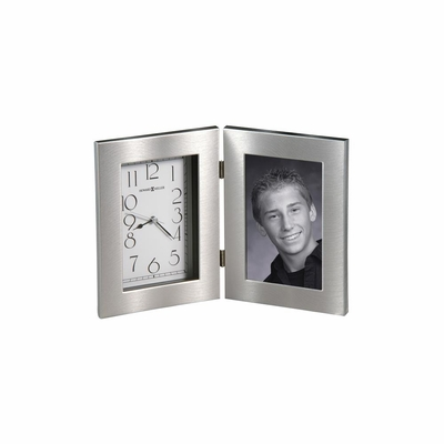 Lewiston Hinged Table Clock with Picture Frame - Howard Miller