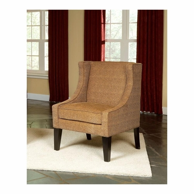 Lia Accent Chair Cheetah Copper with Dark Merlot Legs - Largo - LARGO-ST-F0926-436