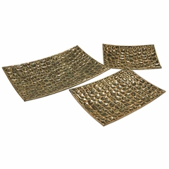 Liana Reptilian Rectangular Trays (Set of 3) - IMAX - 12921-3
