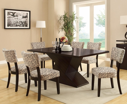 Libby 7-Piece Hourglass Table & Upholstered Chair Set - 103160