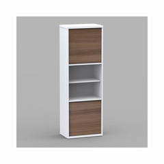 Liber-T 2 Door Bookcase with 6 Shelves - Nexera Furniture
