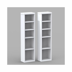 Liber-T Set of 2 CD / DVD Storage Towers - Nexera Furniture
