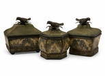 Lidded Bird Boxes (Set of 3) - IMAX - 4475-3