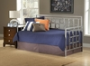 Lido Daybed with Roll-Out Trundle in Brushed Pewter - Hillsdale Furniture - 1541DBLHTR