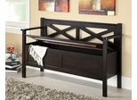 Lift-Top Storage Bench in Dark Walnut - 508006