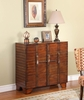 Light Brown Trunk-Look 2-Door Console - Powell Furniture - 725-217