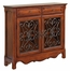 """Light Cherry"" 2-Door, 2-Drawer Scroll Console - Powell Furniture - 411-254"