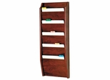 Light Oak 5 Pocket Chart Holder - Wooden Mallet Office Furniture - CH14-5