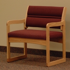Light Oak Bariatric Chair - Wooden Mallet Office Furniture - DWBA1-1LO