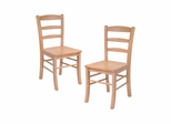 Light Oak Ladder Back Chair - Set of 2 - Winsome Trading - 34232