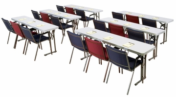 "Lightweight Seminar Table 18"" x 61"" - National Public Seating - BT-1860"