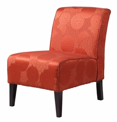 Lily Slipper Chair - Matelesse Burnt Orange - Linon Furniture - 36092BORG-01-AS-U