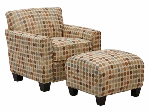 Lincoln Park Chair and Ottoman in Retro Egg - Handy Living - LPK1-CU-PEG99