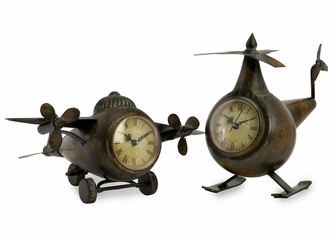 Lindbergh Aviation Clocks (Set of 2) - IMAX - 12708-2