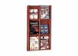Literature Display Rack - Acrylic/Mahogany - BDY064216