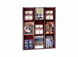 Literature Display Rack - Acrylic/Mahogany - BDY064316