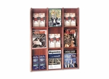 Literature Display Rack - Acrylic/Medium Cherry - BDY064317