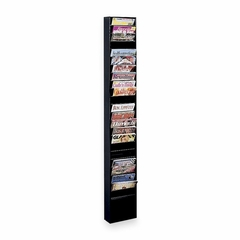Literature Display Rack - Black - BDY08134