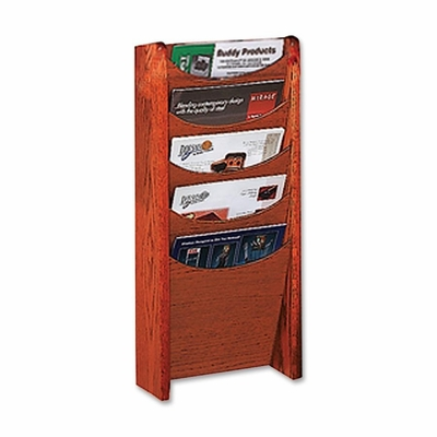 Literature Display Rack - Medium Cherry - BDY61117