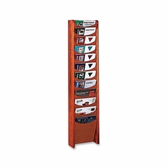 Literature Display Rack - Medium Cherry - BDY61217
