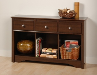 Living Room Console Table in Espresso - Prepac Furniture - ELC-4830