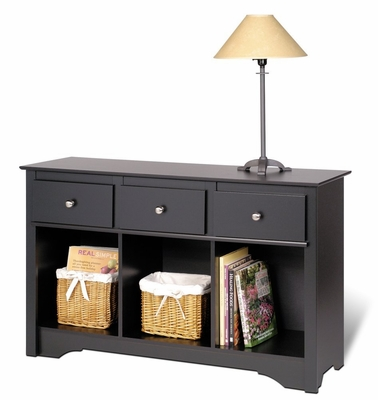 Livingroom Console in Black - Sonoma Collection - Prepac Furniture - BLC-4830