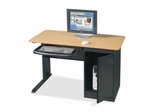 Locking Computer Workstation - Teak - BLT89843
