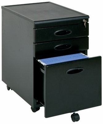 Locking Mobile File Cabinet Black - Sauder Furniture - 18581