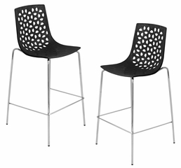 Lola Barstool - Black (Set of 2) - LumiSource - BS-KN-LOLA-BK2