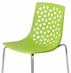 Lola Barstool - Lime Green (Set of 2) - LumiSource - BS-KN-LOLA-LG2