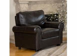 London Top Grain Leather Armchair - Abbyson Living - CH-1918-BRN-1