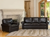 London Top Grain Leather Sofa and Chair Set - Abbyson Living - CH-1918-BRN-3-1