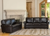 London Top Grain Leather Sofa and Loveseat Set - Abbyson Living - CH-1918-BRN-3-2