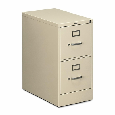 Lorell 2-Drawer Letter File Cabinet - Putty - HON512PL
