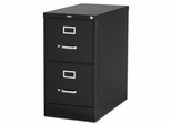 Lorell 2-Drawer Vertical File Cabinet - Black - LLR60653