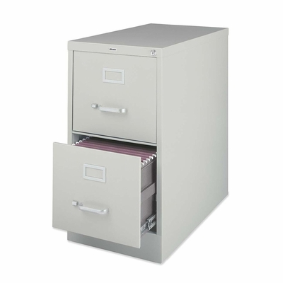 Lorell 2-Drawer Vertical File Cabinet - Light Gray - LLR60195