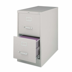 Lorell 2-Drawer Vertical File Cabinet - Putty - LLR60196