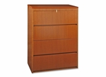 Lorell 4-Drawer Lateral Filing Cabinet in Cherry - LLR88017