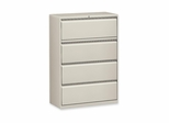 Lorell 4-Drawer Lateral Filing Cabinet in Gray - LLR60436