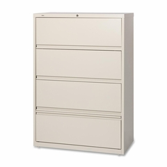 Lorell 4-Drawer Lateral Filing Cabinet in Putty - LLR43510
