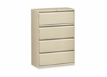 Lorell 4-Drawer Lateral Filing Cabinet in Putty - LLR60444