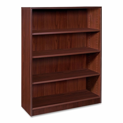 Lorell 4-Shelf Mahogany Bookcase - LLR69498