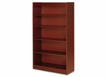 Lorell 5 Shelf Cherry Panel Bookcase - LLR89053