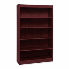 Lorell 5 Shelf Mahogany Panel Bookcase - LLR60073
